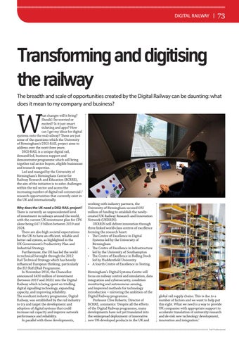 Page 73 of Transforming and digitising the railway