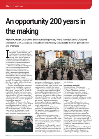 Page 76 of Tunneling: An opportunity 200 years in the making