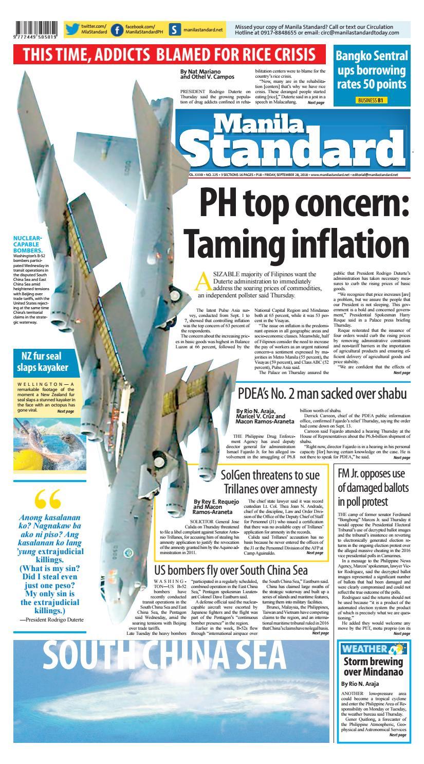 Manila Standard 2018 September 28 Friday By Issuu Harley Evo Oil Line Diagram For Engine Likewise Roque Davidson