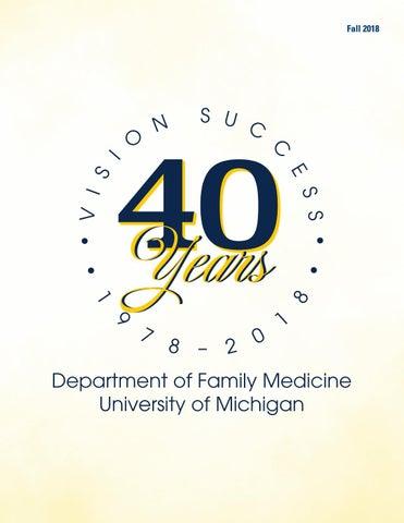 Department of Family Medicine Newsletter Fall 2018