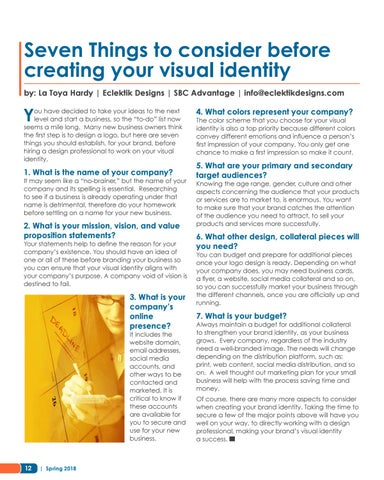 Page 12 of Seven Things to Consider Before Creating Your Visual Identity