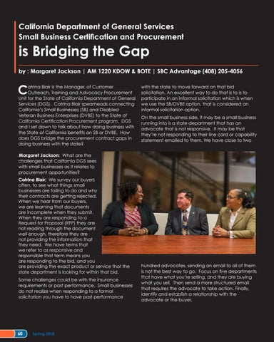 Page 60 of California Department of General Services Certification and Procurement is Bridging the Gap