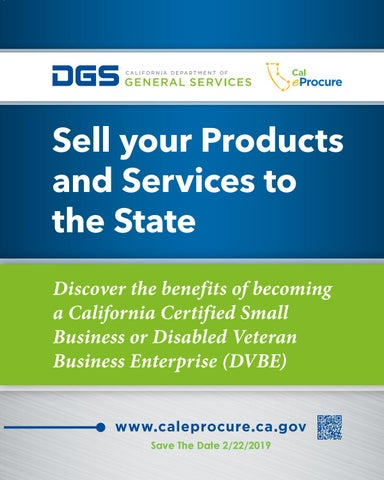 Page 71 of SAVE THE DATE:  FEBRUARY 22, 2019 Sell Your Products and Services to the State of California