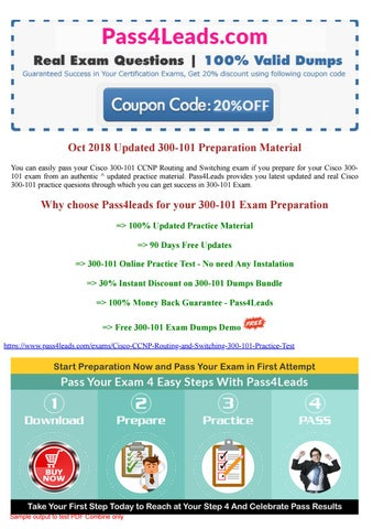 Cisco 300-101 Exam Questions PDF - 2018 Updated by james