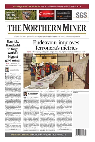 165 Niocorp Appoints Mr Mark A Smith  >> The Northern Miner October 1 2018 Issue By The Northern