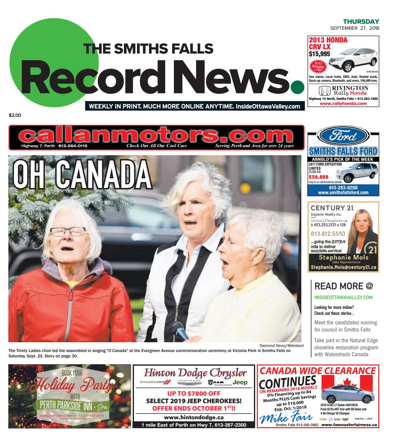 Otv S A 20180927 By Metroland East Smiths Falls Record News Issuu 5610 Ford Wiring Color Codes