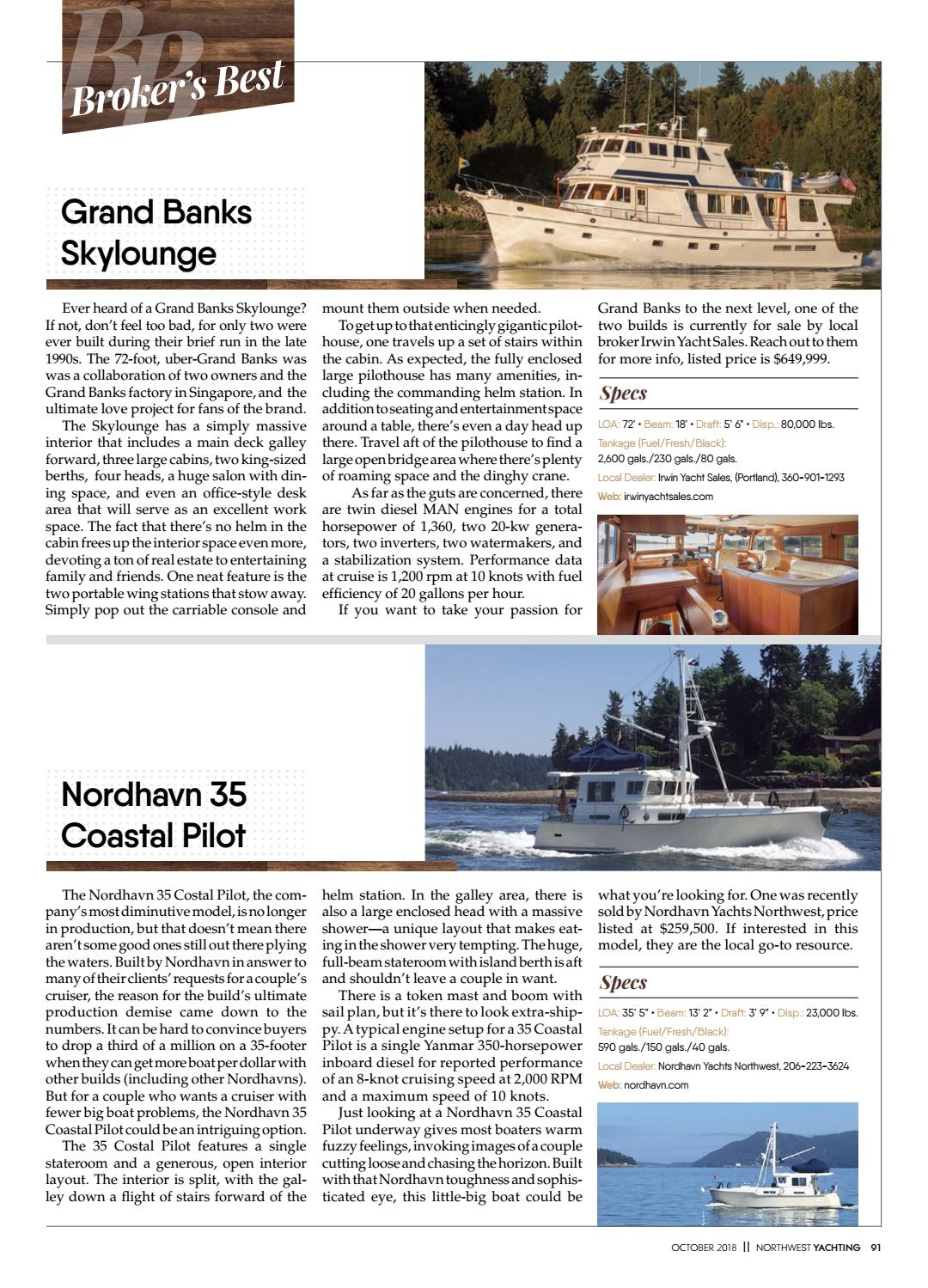 NW Yachting October 2018 by Northwest Yachting - issuu