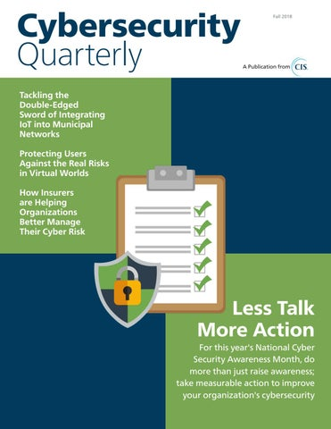 Cybersecurity Quarterly (Fall 2018) by Cybersecurity