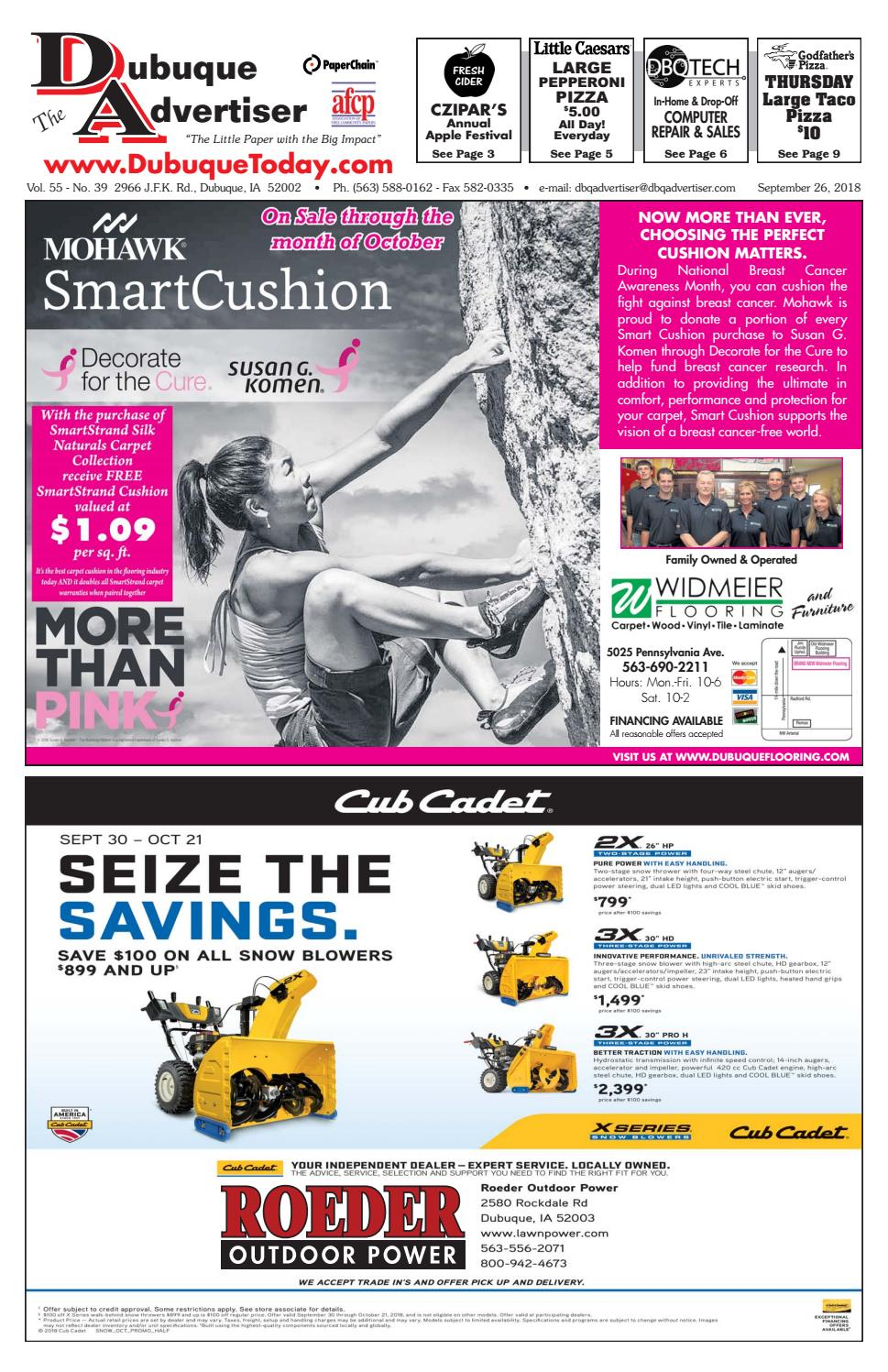 The Dubuque Advertiser September 26 2018 By Depot Your One Stop Trailer Shop 7 Blade Rv Type Plug Wiring Issuu