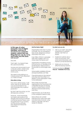 Page 31 of Education is king to reduce cyber attacks