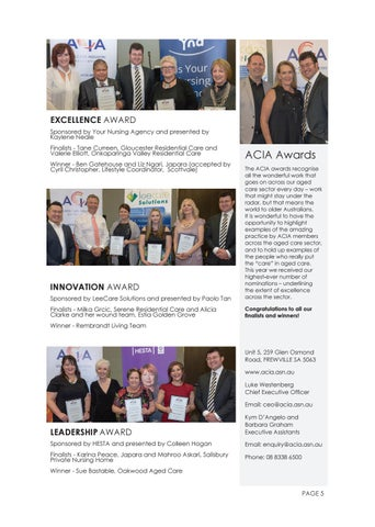 Page 5 of ACIA Industry Awards