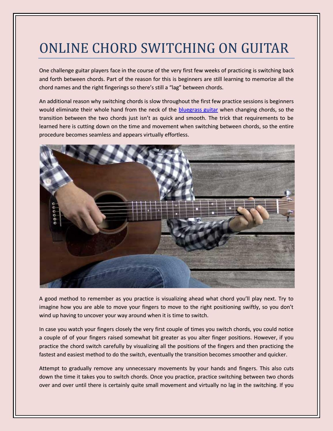 Online Chord Switching On Guitar By Lessonpros Issuu