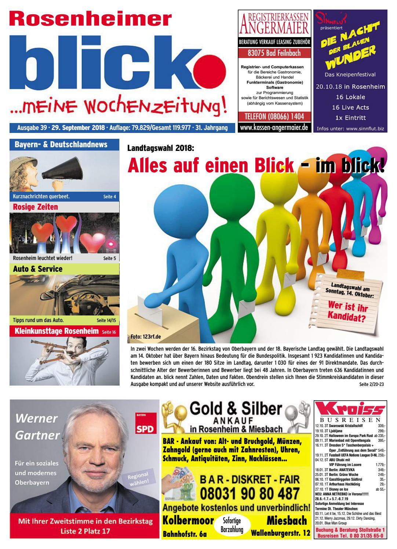 Rosenheimer blick - Ausgabe 39 | 2018 by Blickpunkt Verlag - issuu