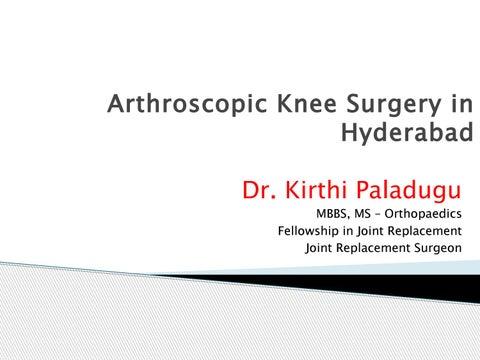 Arthroscopic Knee Surgery in Hyderabad   Dr  Kirthi Paladugu by
