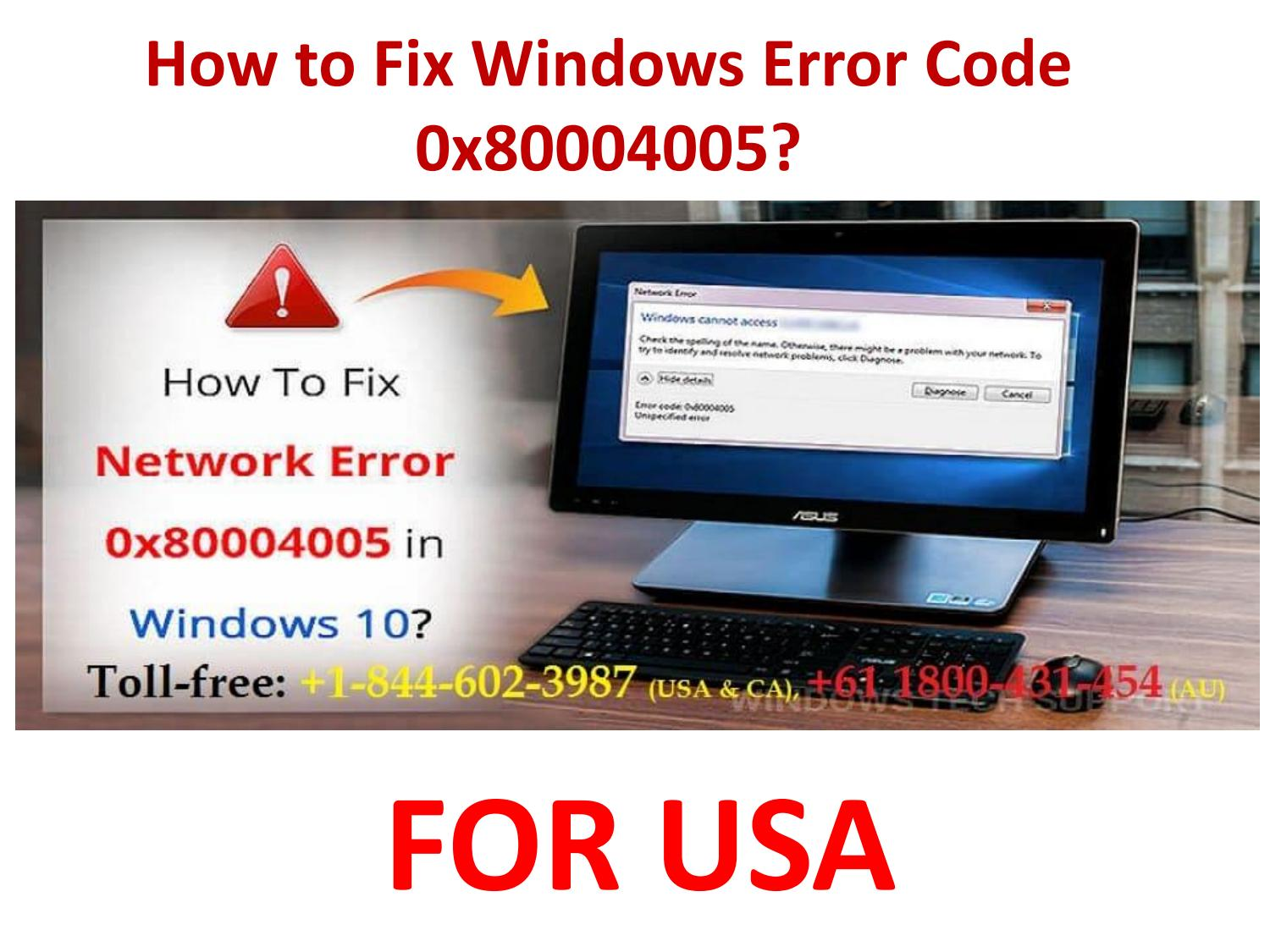 Error Code 0x80004005 Windows 10 Mail