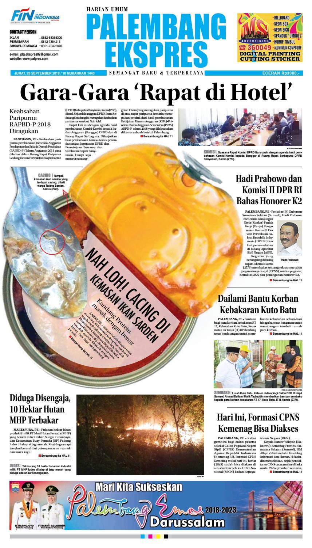 Palembang Ekspres Jumat 28 September 2018 By Issuu Produk Ukm Bumn Sulam Usus Pmk