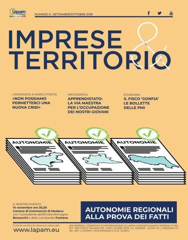 98ef785cee Imprese e Territorio - Settembre Ottobre 2018 by Lapam ...