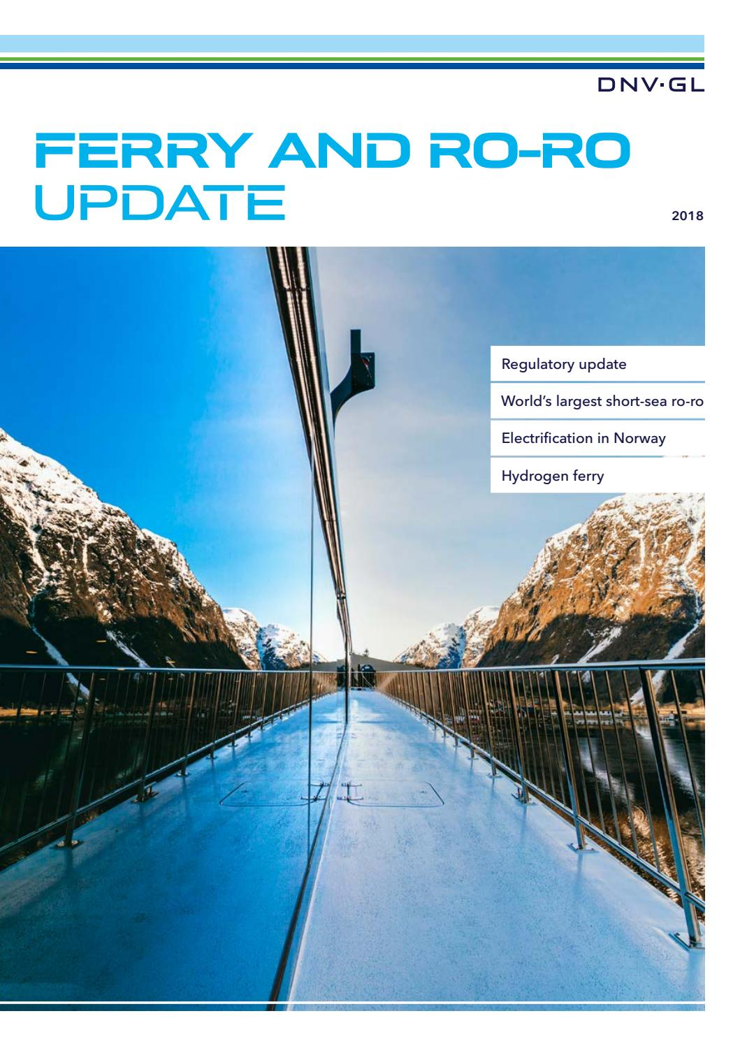 DNV GL Ferry and RoRo Update 2018 by DNV GL - issuu