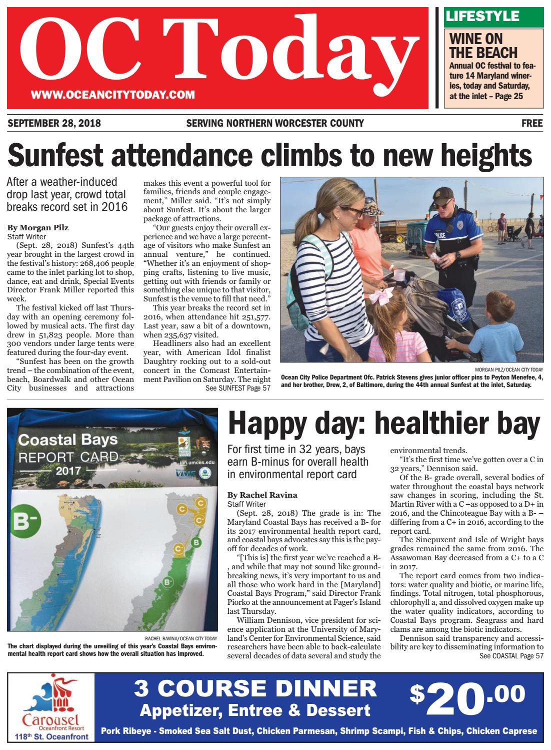 9/28/18 Ocean City Today by ocean city today - issuu