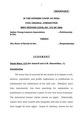 SC verdict on Sabarimala by Yaël Ajgarni - issuu