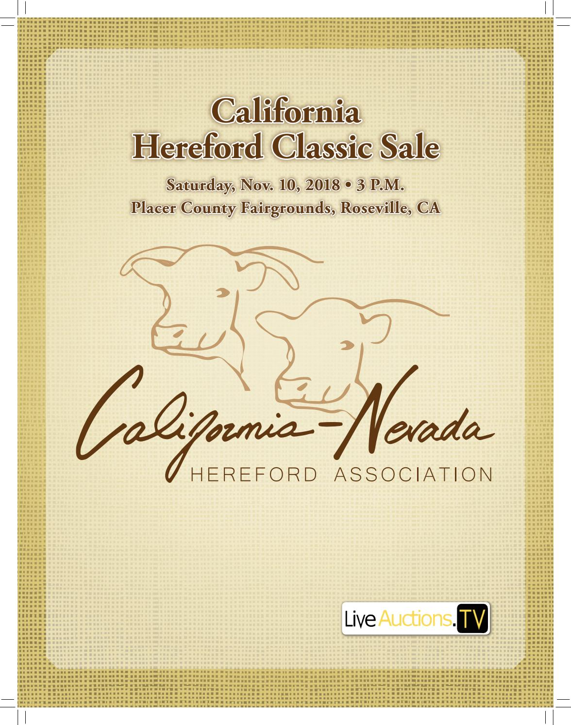 California Hereford Classic Sale By American Hereford Association