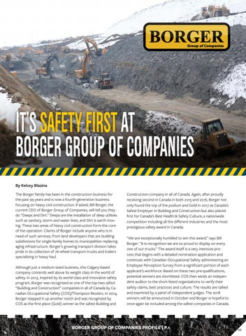 BORGER Profile by Business in Calgary - issuu
