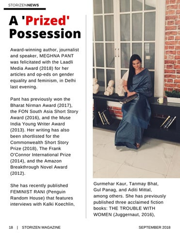 Page 18 of Meghna Pant wins the Laadli Media Award 2018