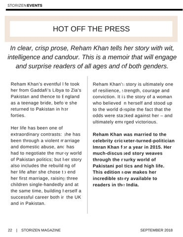 Page 22 of HarperCollins India Presents Reham Khan