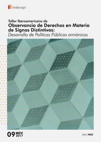 329ff14e1 Taller Iberoamericano de Observancia de Derechos en Materia de ...