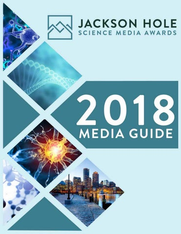 2018 Jackson Hole Science Media Awards | Media Guide by