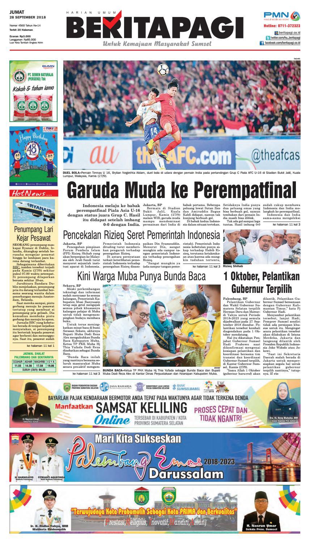 Beritapagi Jumat 28 September 2018 By Issuu Produk Ukm Bumn Cemilan Jagung Emping Isi 3