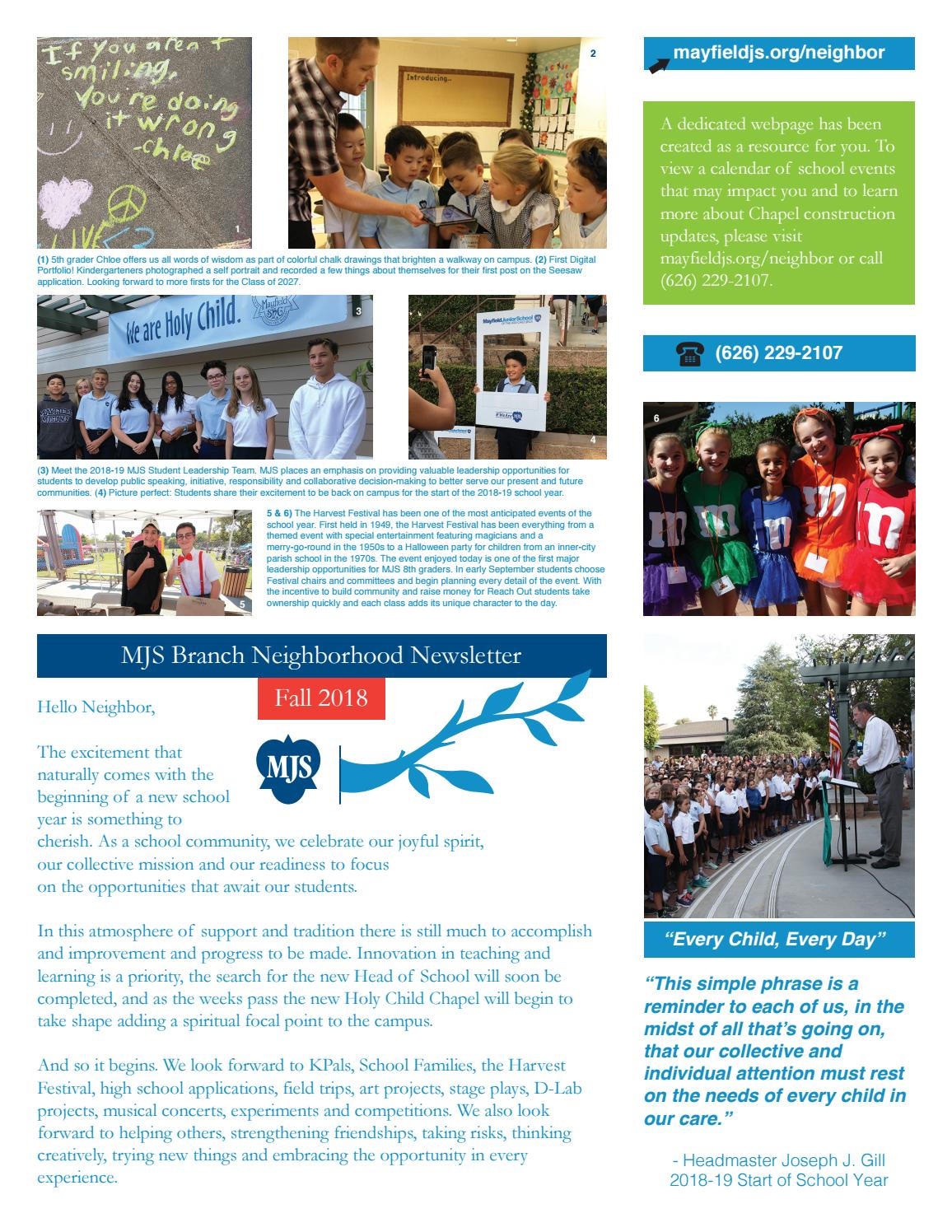 c3e21c2b3a00 MJS Branch Neighborhood Newsletter by Mayfield Junior School - issuu