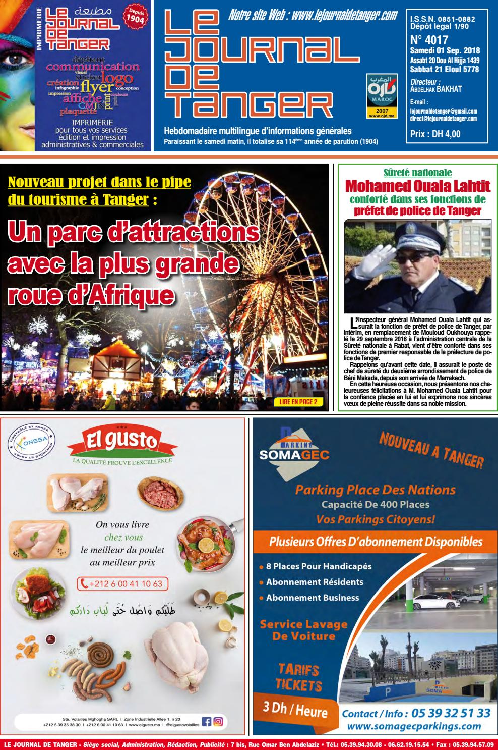 84cc41c0b Le journal de Tanger 01 septembre 2018 by Le Journal de Tanger - issuu