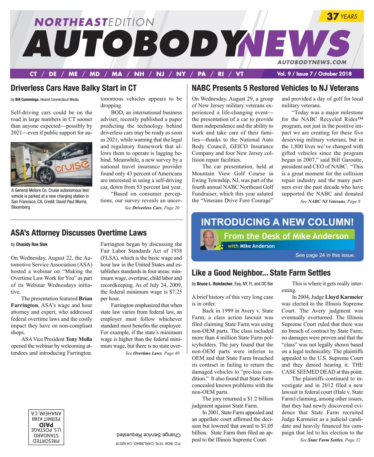October 2018 Northeast Edition by Autobody News - issuu