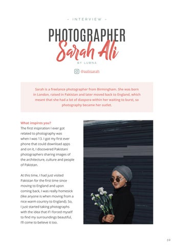 Page 41 of Interview: Photographer, Sarah Ali