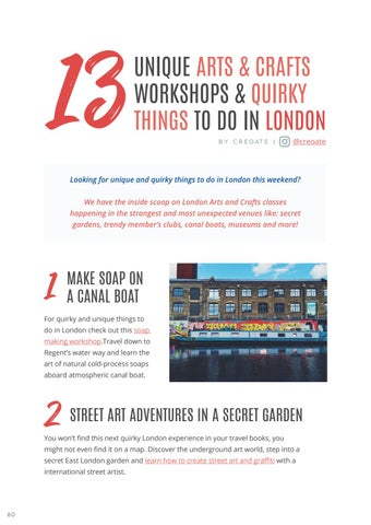 Page 62 of 13 UNIQUE ARTS & CRAFTS WORKSHOPS & QUIRKY THINGS TO DO IN LONDON