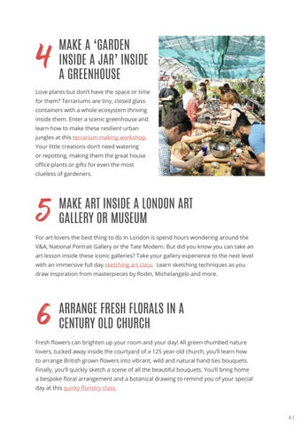 Page 63 of 13 UNIQUE ARTS & CRAFTS WORKSHOPS & QUIRKY THINGS TO DO IN LONDON