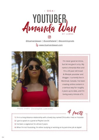 Page 86 of Interview: YouTuber, Amanda Wan