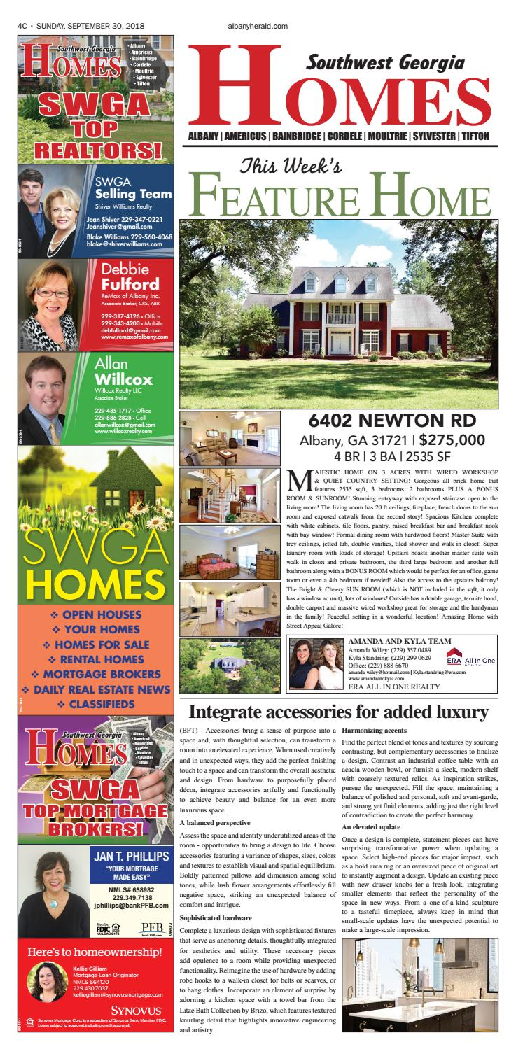 SWGA HOMES - 09/30/2018 by Albany Herald - issuu