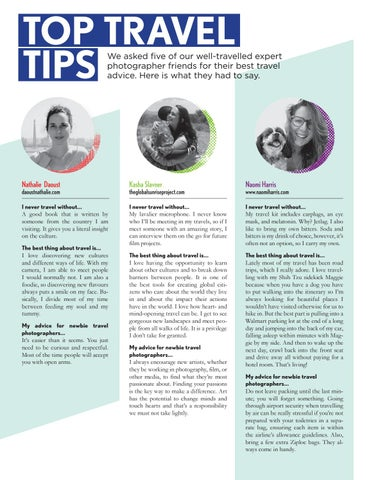Page 16 of Travel tips for photographers - you won't expect!