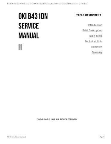 Oki B431dn Service Manual by jonesjose314 - issuu