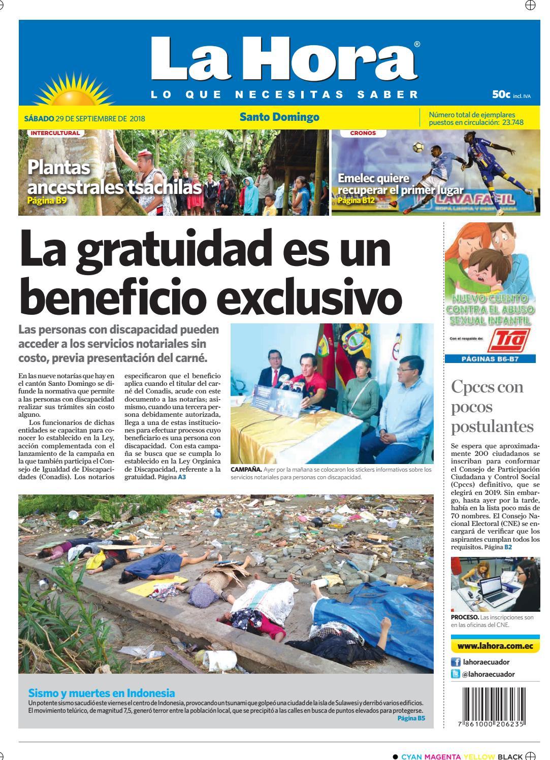 d4a5ecfd9 Santo Domingo 29 de septiembre de 2018 by Diario La Hora Ecuador - issuu