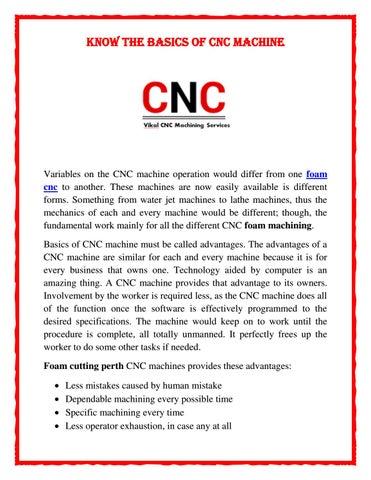 Know The Basics of CNC Machine by cnc vikal - issuu