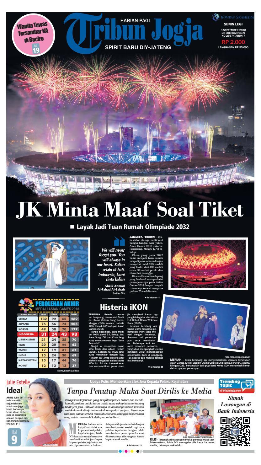 Tribun Jogja 03-09-2018 by tribun jogja - issuu