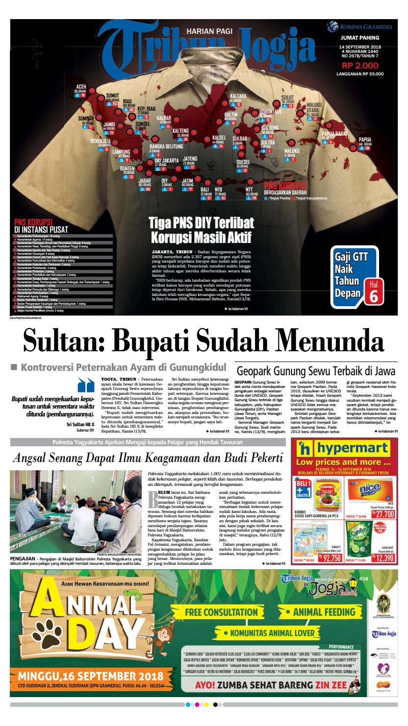 Tribun Jogja 14 09 2018 By Issuu Produk Ukm Bumn Ring Mutiara Mas Putih Laut