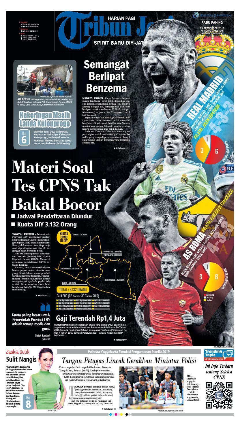 Tribun Jogja 19 09 2018 By Issuu Produk Ukm Bumn Kain Batik Middle Premium 3 Bendera 01