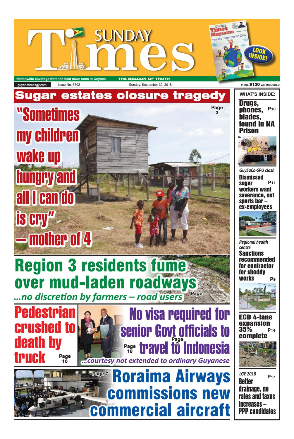 Guyana Times Sunday September 30 by Gytimes - issuu