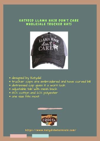 KATYDID LLAMA HAIR DON T CARE WHOLESALE TRUCKER HATS by ... 8751f85ec87