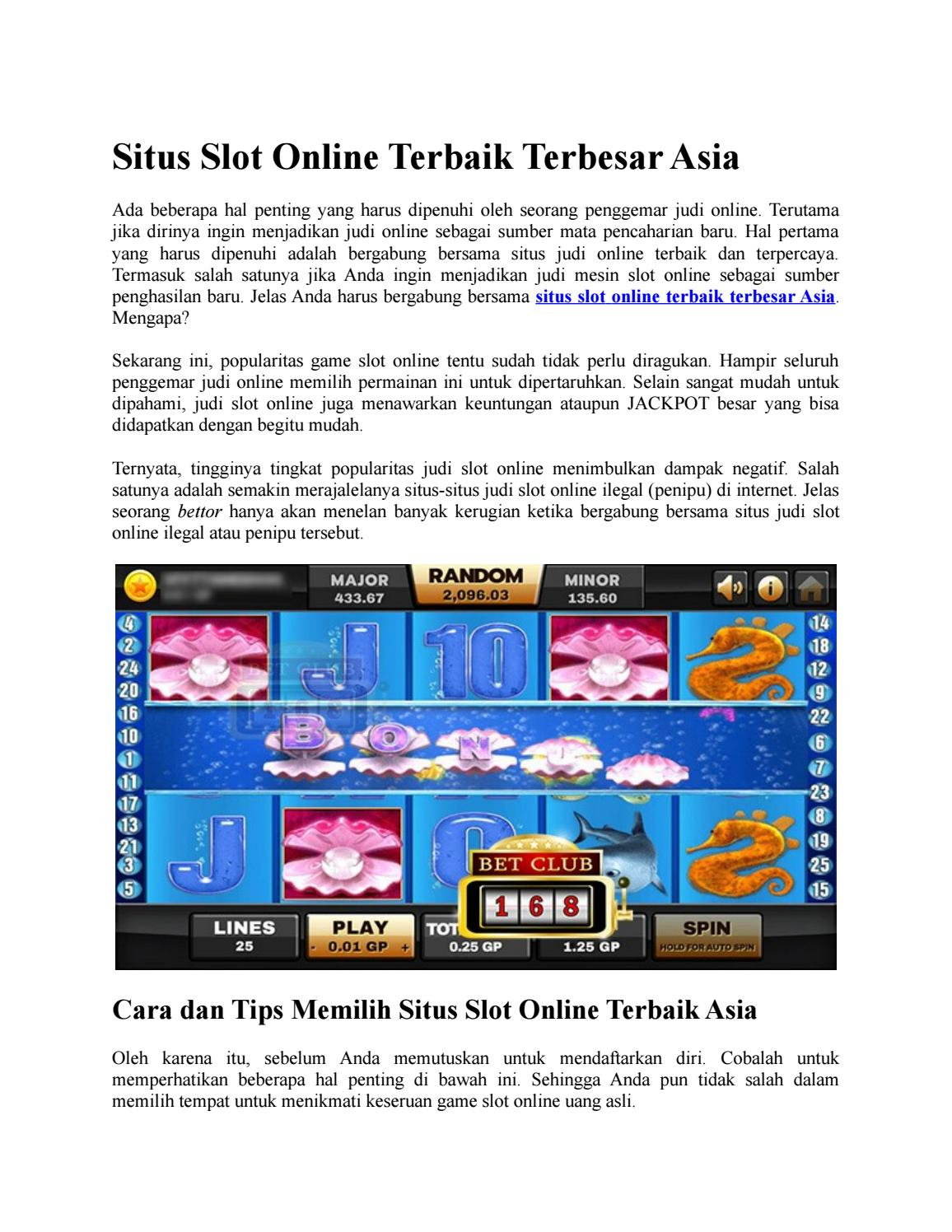 Situs Slot Online Terbaik Terbesar Asia By Erlyn Zhang Issuu