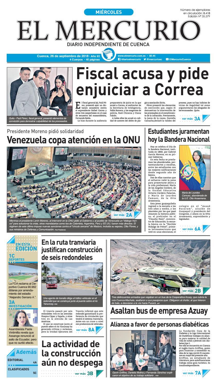 hemeroteca-26-09-2018 by Diario El Mercurio Cuenca - issuu 716e94deaec